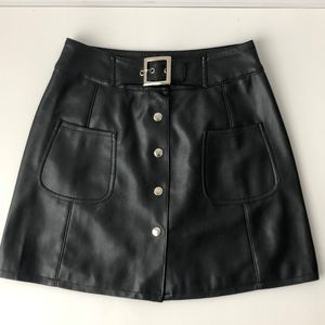 B.B Dakota black faux leather skirt Small